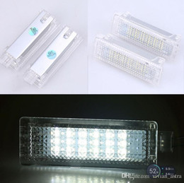 Wholesale Bmw Fog - 2PCS White 12V 18LEDs 3528SMD Courtesy Door Lights Lamp for BMW E81 E90 E60 E63 E65 E70 E85 for Range Rover Sport 2008