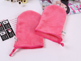 Wholesale Wholesale Makeup Towels - New Reusable Microfiber Facial Cloth Face Towel Makeup Remover Cleansing Glove Tool Beauty Skin face Washcloth