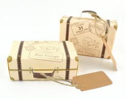 Европейский мини чемодан пользу коробка Бон vovage самолет шаблон авиакомпания партия поставляет конфеты бумажная коробка с именем тега от Поставщики узорчатые чемоданы