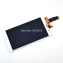 Wholesale Display Huawei - Wholesale-White For Huawei Ascend Mate MT1-U06 LCD display + Touch Screen with Digitizer Assembly Replacement , Free shipping !!!