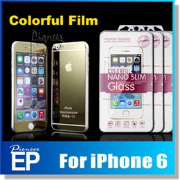 Wholesale Colored Screen Protectors - For iPhone 7 7plus 6 6s Colored Screen Protector, Front+Back Mirror Tempered Glass Film Cover for Apple iPhone 6 Plus 5 5s [2-Pack]