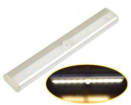 Wholesale Drawers Lights - 10 LED IR Infrared Sensor Light IR Wireless Sensor Motion Detector Night Light, Drawer Closet Cabinet Light Lights & Lighting)