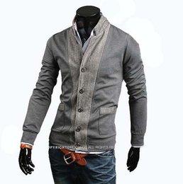 Wholesale Korean Style Mens Winter Coats - Fall-2015 New Arrival Men Jacket Spliced Mens Jackets and Coats Korean Style Men Black Jacket Brand Winter XXL XL M L