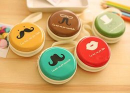 Wholesale Wholesale Round Purse Holders - (10pcs lot) 2016 new Lovely Coin Holder With Beard Pattern Cute Round Coin Purse Free Shipping