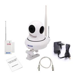 Wholesale Cctv Mini Pan Tilt Camera - NEWEST Original ESCAM QF500 P2P 720P HD 1.0Mega Pan Tilt WIFI Alarm System Mini Security CCTV Indoor IP Camera