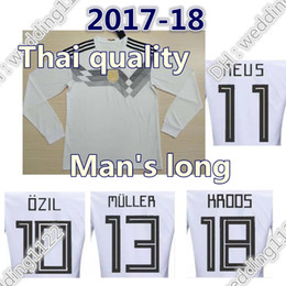 Wholesale Football German - 17 18 German Long sleeves 2018 Russia WORLD CUP national team German soccer Jerseys MULLER OZIL GOTZE REUS KROOS HUMMELS FOOTBALL shirts