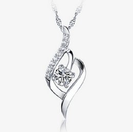 Wholesale Circle Wedding Dresses - New Arrival Austria Crystal Pendant Necklace With 30% 925 sterling silver for Women on Wedding Dress Sets Party