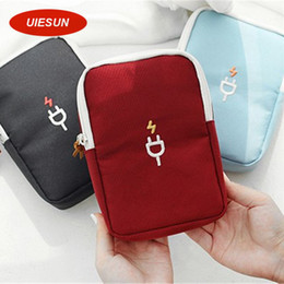 Wholesale Charger Storage Box - Wholesale- Newest Portable Digital Device Organizer Travel Storage Bag For iPhone Mobile Phone USB Cable Earphone Charger Box UIE193