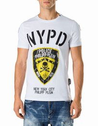 Wholesale Fashions New York - 2018 Spring Letter Printing t shirts NEW YORK CITY Crystal polo t shirt men Cotton Short sleeve designer Shirt Casual tee Shirts 18749