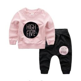 Wholesale Letter P V - Children's clothing boy's leisure suit of 2017 spring and autumn New Year spring and spring new children's English circle and trousers two-p