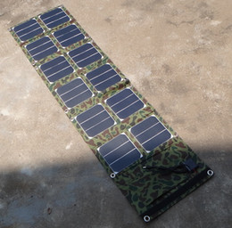 Wholesale Quality Solar Panels - Hot Foldable 40W Solar Panel Charger Mobile Phone Charger USB 5V+DC18V Dual Output For 12V Battery Charger High Quality Free Shipping