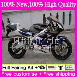 Wholesale 1995 Suzuki Fairings - Blue white Motorcycle Fairing For SUZUKI RGV250 VJ22 90 91 92 93 94 95 96 38HT21 RGV-250 VJ 22 RGV 250 1990 1991 1992 1993 1994 1995 1996