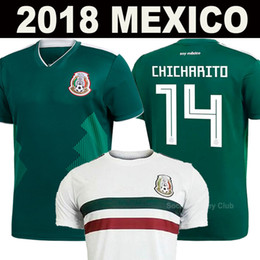Wholesale Mexico Football Jersey - 2018 Mexico Soccer Jerseys CHICHARITO LOZANO CHUCKY DOS SANTOS PERALTA HERRERA National LAYUN MARQUEZ World Cup Thai quality football shirts