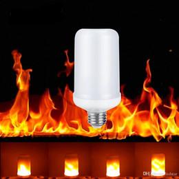 Wholesale Simulation Candle Light - E27 E26 E14 B22 Simulation Flame Effect LED Light Bulbs AC 85-265V Corn Lamp Emulation Fire Flicker Decoration lamp Flameless Lamparas