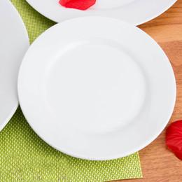 Wholesale White Ceramic Dinnerware - Piece Dinnerware Set, Service for ,Dinner Plate Set, Winter Frost White