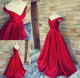 Wholesale Taffeta Belted Dress - Red Carpet Long Formal Pageant Prom Gowns With Belt Sexy V Neck Ball Gowns Open Back Lace Up Vintage Party Evening Gowns Real Photos