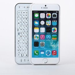 """Wholesale Iphone Wireless Keyboard Case - White Wireless Bluetooth Keyboard Back Case Cover For Apple iPhone 6 4.7"""" Slide out Sliding Keyboard Case + Retail Package"""