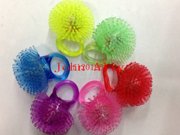 Wholesale Silicone Led Ring - 500pcs lot Free Shipping Soft Jelly Glowing In The Dark LED Glow Finger Rings Light For Wedding Birthday Party Favor