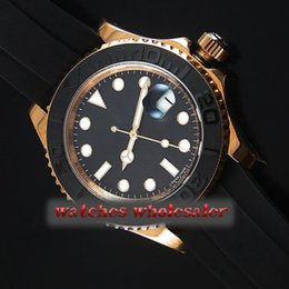 Wholesale Wrist Machine - Luxury triple wrist strap black dial ceramic ring chain on the automatic machine Golden stainless steel case Man must pack mail