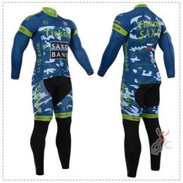 Wholesale Saxo Bank Long Sleeve - Wholesale-Bicycle Clothing 2015 Tinkoff Saxo Bank Camouflage Cycling Jersey Long Sleeve Long Jersey Cycle Jersey Tight Sport Ropa Ciclismo