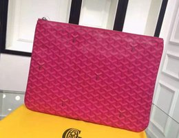 Wholesale Good Quality Brands - Good Quality France style Designer famous brand men women lady classic fashion Luxury gy clutch purse handbag