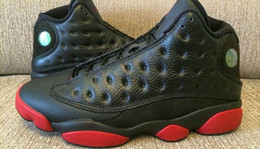Wholesale Cheap Stretch Boots - Discount Mens Shoes Retro XIII Dirty bred basketball shoes 13 retro black gym red black Mens Sports Shoes Men Trainers Cheap Athletics Boots