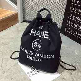 Wholesale Canvas Backpacks Peach - 2017 New women designer backpack famous brand name bags same design outdoor travel bags foldable drawstring bagpack wholesale canvas bag