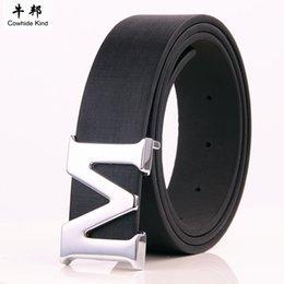 Wholesale Punk Suspenders - Buckle Brand Designer Crocodile Belts Men High Quality Women Punk Genuine Real Leather Male Strap for Jeans