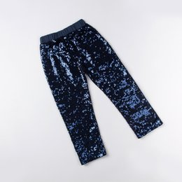 Wholesale Wholesale Sequins China - Wholesale China Factory Baby Girls Leggings ,navy Sequined Pants ,Girls Sparkle Pants ,Sequins pants for girls