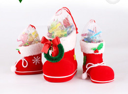 Wholesale Wicker Boxes - New Arrive Christmas Boots Christmas Candy Box Decorations Hot Sale Christmas Party Supplies Christmas Boots 4