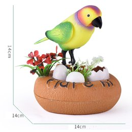 Wholesale Tweet Bird - Creative Sound Voice Induction Electric voice-activated Toy Singing Tweeting Bird