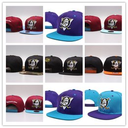 Wholesale Nhl Free - Cheap 2017 Black visor Hockey cap NHL Mighty Hockey Caps Anaheim Ducks bone Cheap Fashion nhl Hats for men women sports baseball cap