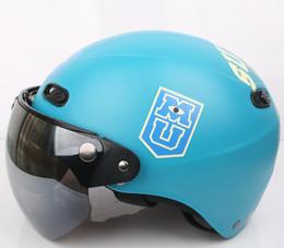 "Wholesale Kk Moto - Wholesale-KK#31 Taiwan ""EVO"" Motorcycle Half Face Snow Scooter Moto Matt Black Big Monster On Campus Sulley Helmet & UV"