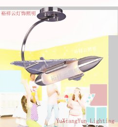 Wholesale Plane Ceiling Light - LED Ceiling Lights Creative movement fighters children bedroom room place of study children children absorb dome light plane
