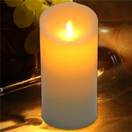 Wholesale Flameless Votive Candle - Factory Direct Selling 75*150MM Flameless LED Candle with Moving Flame Wick Christmas Gift lights birthday gift Free Shipping