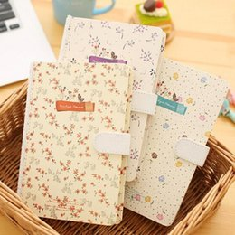 Wholesale Diary Book Flower - Wholesale- New Cute Floral Flower Schedule Book Diary Weekly Planner Notebook with Magnet buttonSchool Office Supplies Kawaii Stationery