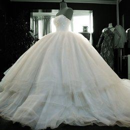 Wholesale Lace Wedding Dress Monarch Train - Cathedral Train Wedding Dress 2015 Beaded Crystal Strapless Bridal Gown Lace Up vestido de noiva curto
