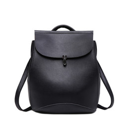 Wholesale Pretty Backpacks - Popular Women Leather Casual Backpack female Brief portable travelling bag pretty big School bag for girls mochila Easy Matching