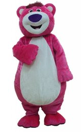 bear fancy dress Promo Codes - Pink Bear Mascot Costume Cartoon Character Clothing Fancy Dress