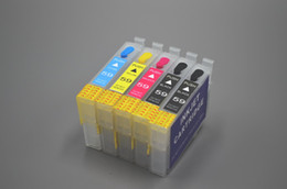 Wholesale Epson Refillable Ink - IC59-5C Refillable ink cartridge for Epson PX-1001 Printer, With Auto Reset Chip. 1 set Lot