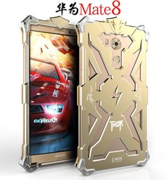 Wholesale Cell Phone Metal Armor - HUAWEI Mate 8 Mate8 Original Design Armor Metal frame case For HUAWEI Mate8 THOR IRONMAN powerful cell phone bag case cover