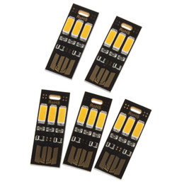 Wholesale Usb Pocket Power Charger - Wholesale- 5pcs! Portable Mini USB Power 3 LED Night Light Pocket Card Lamp for Power Bank Mobile Charger Computer PC Laptop Notebook
