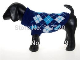 Wholesale Xs Dog Sweaters - Wholesale-Fashion Dark Blue Pet Dog Puppy Pullover Turtleneck Sweater Knitwear Apparel Sz XS S M L XL
