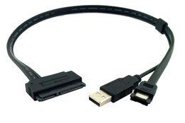 "Wholesale Data Sync Pin - Laptop 2.5"" Hard Drive 7+15 Pin 22P SATA to eSATA DATA Sync W  USB Powered Cable"