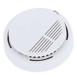 Wholesale Wholesale Wireless Alarm System - Smoke Detector Alarms System Sensor Fire Alarm Detached Wireless Detectors Home Security High Sensitivity Stable LED 85DB H9487