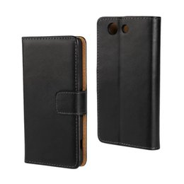 Wholesale Leather Case For Xperia P - 100% GENUINE Wallet Credit Card Stand Leather Case For Sony Xperia miro ST23i P Lt22i S Lt26i SP M35h T Lt30p U St25i Xperia V Lt25i 50PCS L