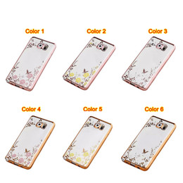 Wholesale I Phone Galaxy Cases - S7 S7 Edge Bling Diamond Clear Case for Samsung Galaxy S7 Edge Case Silicone Cover for iphone 6 6 plus cases i phone cases