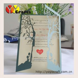 Wholesale Wholesale Wedding Souvenirs Usa - 2013 hot for USA laser cut wedding souvenirs decorations flower love tree invitations card gifts with mix color
