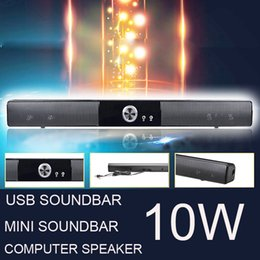Wholesale Mini Tv Computer - POWERFUL USB MINI SOUNDBAR   SOUND BAR , HIFI USB POWERED SPEAKER FOR COMPUTER  PC  LAPTOP TABLETS  SMALL TV ETC