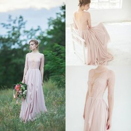 Wholesale Elie Saab Dresses For Sale - Hot Sale Elie saab Long Sleeves Wedding dresses Ruffles Lace Bridal Gowns Custom Vestido de Noiva High Grade A-line Dress For Bride WW